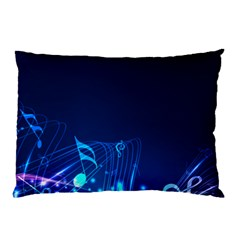 Abstract Musical Notes Purple Blue Pillow Case (Two Sides)