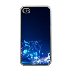 Abstract Musical Notes Purple Blue Apple iPhone 4 Case (Clear)