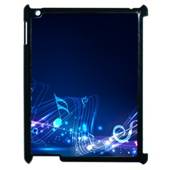 Abstract Musical Notes Purple Blue Apple iPad 2 Case (Black)
