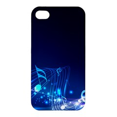 Abstract Musical Notes Purple Blue Apple iPhone 4/4S Premium Hardshell Case