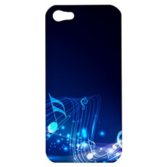 Abstract Musical Notes Purple Blue Apple iPhone 5 Hardshell Case