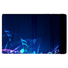 Abstract Musical Notes Purple Blue Apple iPad 3/4 Flip Case