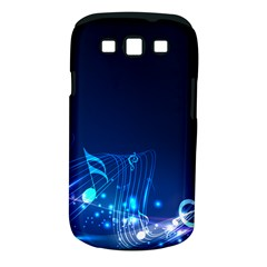 Abstract Musical Notes Purple Blue Samsung Galaxy S III Classic Hardshell Case (PC+Silicone)