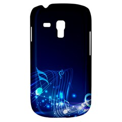 Abstract Musical Notes Purple Blue Galaxy S3 Mini