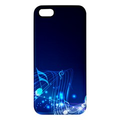 Abstract Musical Notes Purple Blue Apple iPhone 5 Premium Hardshell Case