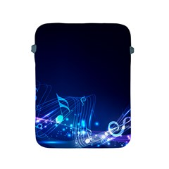 Abstract Musical Notes Purple Blue Apple iPad 2/3/4 Protective Soft Cases