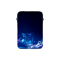 Abstract Musical Notes Purple Blue Apple iPad Mini Protective Soft Cases