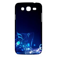 Abstract Musical Notes Purple Blue Samsung Galaxy Mega 5.8 I9152 Hardshell Case