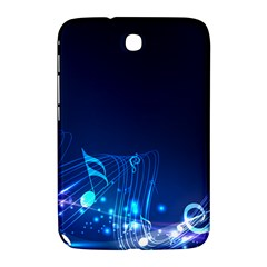 Abstract Musical Notes Purple Blue Samsung Galaxy Note 8.0 N5100 Hardshell Case