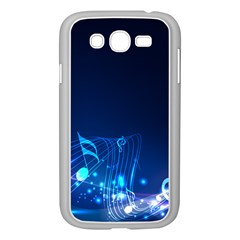 Abstract Musical Notes Purple Blue Samsung Galaxy Grand DUOS I9082 Case (White)