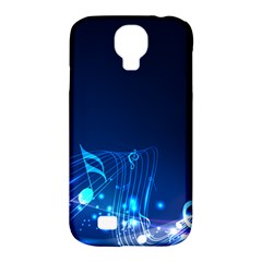 Abstract Musical Notes Purple Blue Samsung Galaxy S4 Classic Hardshell Case (PC+Silicone)