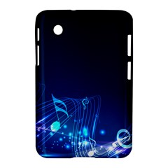 Abstract Musical Notes Purple Blue Samsung Galaxy Tab 2 (7 ) P3100 Hardshell Case