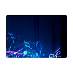 Abstract Musical Notes Purple Blue iPad Mini 2 Flip Cases