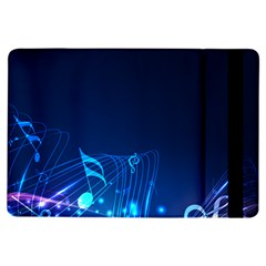 Abstract Musical Notes Purple Blue iPad Air Flip