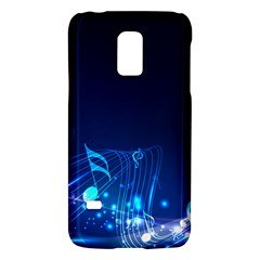 Abstract Musical Notes Purple Blue Galaxy S5 Mini