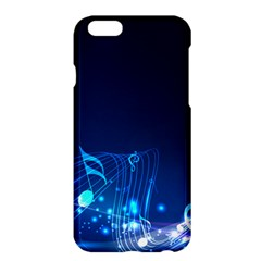 Abstract Musical Notes Purple Blue Apple iPhone 6 Plus/6S Plus Hardshell Case