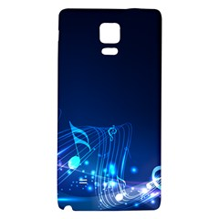 Abstract Musical Notes Purple Blue Galaxy Note 4 Back Case