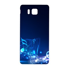 Abstract Musical Notes Purple Blue Samsung Galaxy Alpha Hardshell Back Case