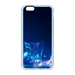 Abstract Musical Notes Purple Blue Apple Seamless iPhone 6/6S Case (Color)
