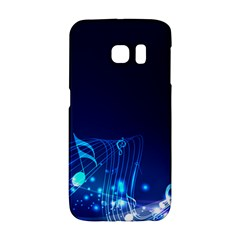 Abstract Musical Notes Purple Blue Galaxy S6 Edge