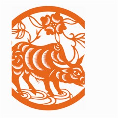 Chinese Zodiac Cow Star Orange Large Garden Flag (Two Sides)