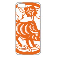 Chinese Zodiac Cow Star Orange Apple Seamless iPhone 5 Case (Clear)