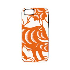Chinese Zodiac Cow Star Orange Apple iPhone 5 Classic Hardshell Case (PC+Silicone)