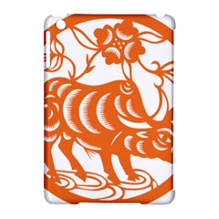 Chinese Zodiac Cow Star Orange Apple iPad Mini Hardshell Case (Compatible with Smart Cover)