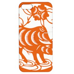 Chinese Zodiac Cow Star Orange Apple iPhone 5 Hardshell Case with Stand
