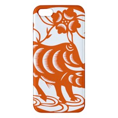 Chinese Zodiac Cow Star Orange Apple iPhone 5 Premium Hardshell Case