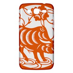 Chinese Zodiac Cow Star Orange Samsung Galaxy Mega 5.8 I9152 Hardshell Case