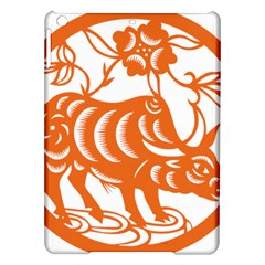 Chinese Zodiac Cow Star Orange iPad Air Hardshell Cases