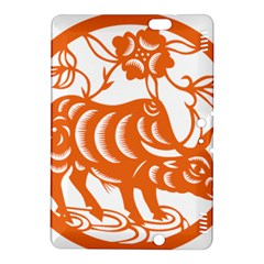 Chinese Zodiac Cow Star Orange Kindle Fire HDX 8.9  Hardshell Case