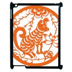 Chinese Zodiac Dog Star Orange Apple iPad 2 Case (Black)