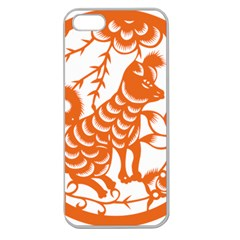 Chinese Zodiac Dog Star Orange Apple Seamless iPhone 5 Case (Clear)