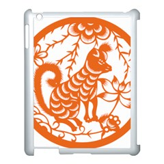 Chinese Zodiac Dog Star Orange Apple iPad 3/4 Case (White)