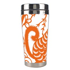 Chinese Zodiac Dog Star Orange Stainless Steel Travel Tumblers