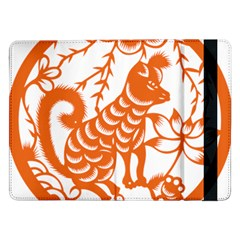 Chinese Zodiac Dog Star Orange Samsung Galaxy Tab Pro 12.2  Flip Case