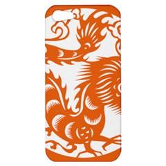 Chinese Zodiac Dragon Star Orange Apple iPhone 5 Hardshell Case