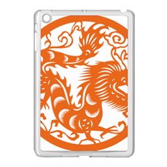 Chinese Zodiac Dragon Star Orange Apple iPad Mini Case (White)