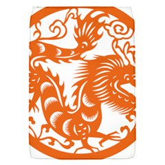 Chinese Zodiac Dragon Star Orange Flap Covers (S)