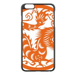 Chinese Zodiac Dragon Star Orange Apple iPhone 6 Plus/6S Plus Black Enamel Case