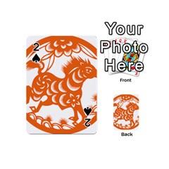Chinese Zodiac Horoscope Horse Zhorse Star Orangeicon Playing Cards 54 (Mini)