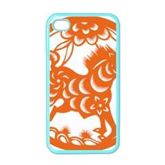 Chinese Zodiac Horoscope Horse Zhorse Star Orangeicon Apple iPhone 4 Case (Color)