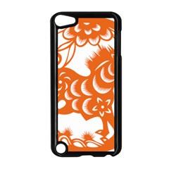 Chinese Zodiac Horoscope Horse Zhorse Star Orangeicon Apple iPod Touch 5 Case (Black)