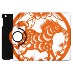 Chinese Zodiac Horoscope Horse Zhorse Star Orangeicon Apple iPad Mini Flip 360 Case