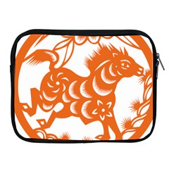 Chinese Zodiac Horoscope Horse Zhorse Star Orangeicon Apple iPad 2/3/4 Zipper Cases
