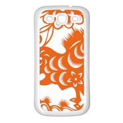 Chinese Zodiac Horoscope Horse Zhorse Star Orangeicon Samsung Galaxy S3 Back Case (White)