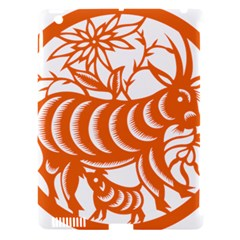 Chinese Zodiac Goat Star Orange Apple iPad 3/4 Hardshell Case (Compatible with Smart Cover)