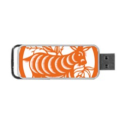 Chinese Zodiac Goat Star Orange Portable USB Flash (Two Sides)